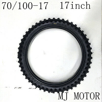 """70/100 - 17"""" inch Front Knobby Tyre Tire PIT PRO BIGFOOT Trail Dirt Bike"""
