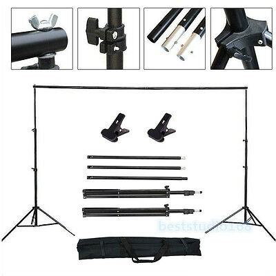 Adjustable Photography Background Support Stand Photo Backdrop Crossbar Kit