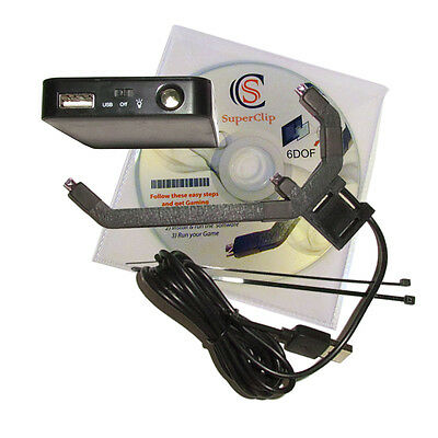 Gaming Head Tracking USB Clip + Wireless Pack. TrackIR Compatible. OpenTrack.