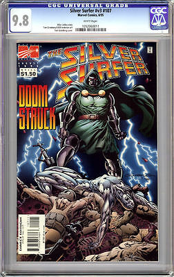 SILVER SURFER #107 CGC 9.8 WHITE PAGES SURFER vs DR DOOM