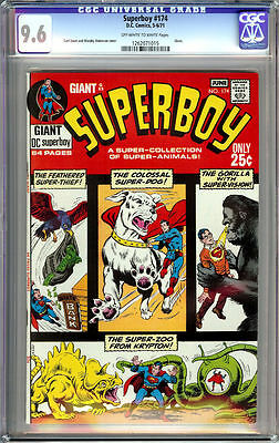 Superboy #174 Cgc 9.6 Ow/white Pages Giant 1971