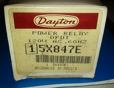 5X847E Dayton Electric Power Relay DPDT 120V 60HZ 30A 2HP Motor Starting NOS