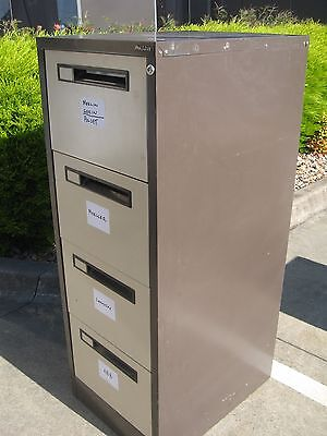 Precision Brown Steel 4 Drawer Filing Cabinet