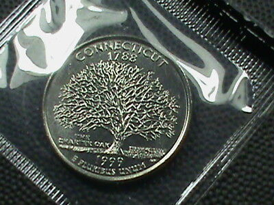 UNITED STATES  25 cents  1999  -  P   BRILLIANT  UNCIRCULATED  ,  CONNECTICUT