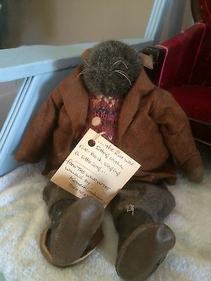 "Wind in the Willows ""Rat"" handmade stuffed animal"