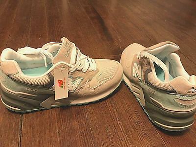 reputable site e4261 8992b WOMEN'S GIRL'S NEW BALANCE Sneakers RARE 999 Abzorb size 7.5 White,  mint,tan,gra