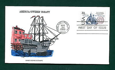 Sc. 2036 Swedish Treaty FDC - Gage's Coins & Stamps
