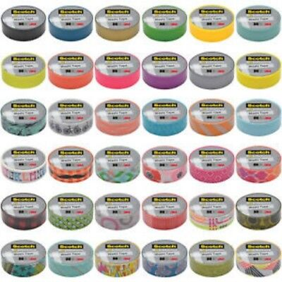 "3M Scotch Expressions Washi Tape Rolls .59"" 50 Designs--U Choose! US FAST SHIP"
