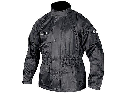 Motodry Lightning Motorcycle Rain Jacket Wet Weather Gear 100% Waterproof Black