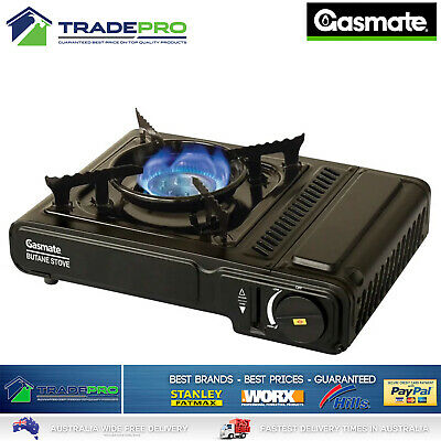 Butane Stove Portable Gasmate® Single Gas Burner Camp Cooker & Case AGA APPROVED