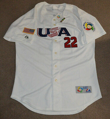 NWT Roger Clemens Team USA 2006 World Baseball Classic Jersey Authentic 46 WBC