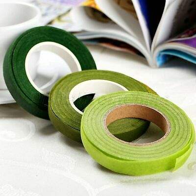 Florist Stem Tape Wire Floral Work Plastron Rose Flower Stamen Paper Wrap 12mm