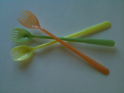 collectable tupperware spoons/forks