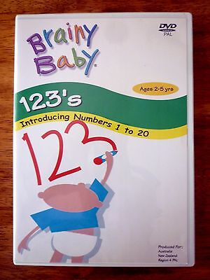 BRAINY BABY DVD 123's Ages 2-5 Years 2003