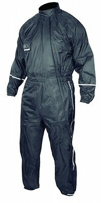 Motorcycle Motorbike Rain Suit Wet Weather Gear 1 One PC 100% Waterproof Black