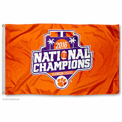 Clemson University 2016 National Champs Official Logo Flag and Banner