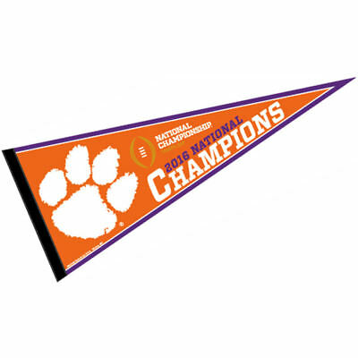 Clemson Tigers 2016 National Champions Pennant