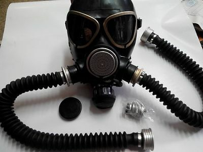 GAS MASK PMK-2 drinking system (Mask,2Hose,items), New,Russian Army
