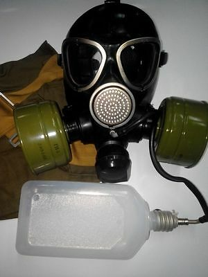 GAS MASK PMK-2 drinking system (Mask,2Filter,Bag,Flask), New,Russian Army