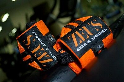 ZEUS Gear Apparel Wrist Wraps Orange, Weightlifting, Crossfit and gym support