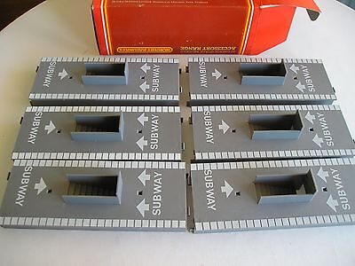 Hornby R 495 6 x  Platform subway.  00 gauge. New and boxed