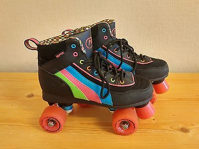 SFR Rio Roller Disco Quad Skates Size UK 5 EU 38 -EXCELLENT CONDITION-