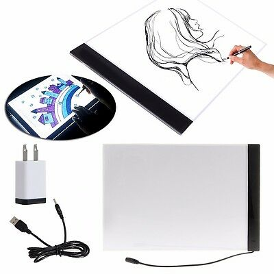 NEW 1 Set A4 LED Artist Thin Art Stencil Board Light Box Tracing Drawing Board