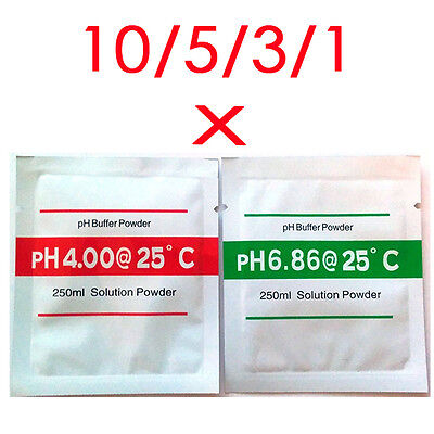 PH Buffer Solution Calibration Sachets PH4.00 and PH6.86 Aquarium, Hydroponics