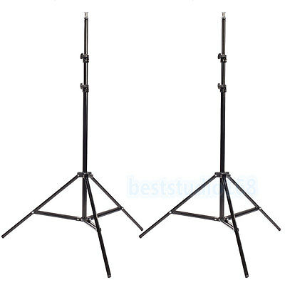 2x Professional Studio Adjustable Soft Box Flash Continuous Light Stand Tripod