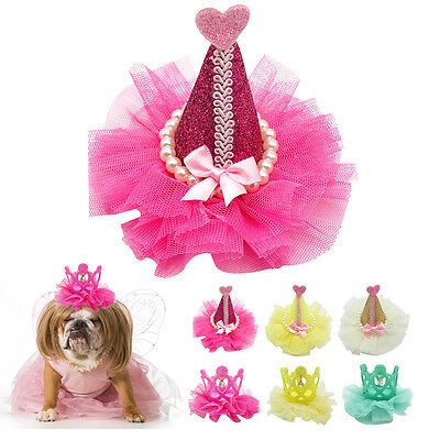 Bling Sequins Dog Hair Bows Puppy Hair Clips Dog Grooming Accessory Crown Shape