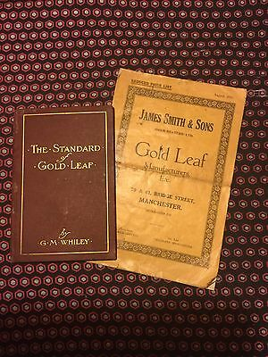 Gold Leaf Standard books literature antique 1920s J. Smith Manchester & G.Whiley