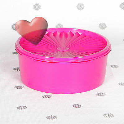 NEW Servalier Tupperware Biscuit Cookie Cake Container Retro canister Pink
