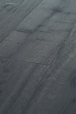 Black Carbon Oiled & Deep Brushed Engineered Oak Timber Floor Boards FSC E15T28