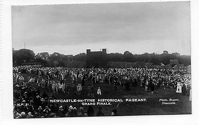 Old postcard Newcastle Historical Pageant grand final .