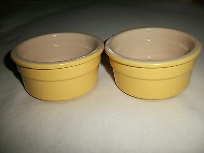 2 Yellow Souffle Dishes