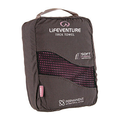 Lifeventure Microfibre Travel Towel GIANT Pink Compact Camp Bike Beach Sports