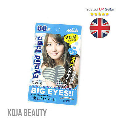 Big Eyes Double Eyelid Tape (160 pcs) Instant Eyelift Hooded Eyes Monolids - UK