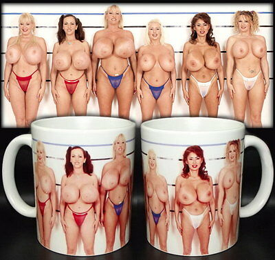tazza mug sexy girls MASSIVE BOOBS tits naked scodella ceramica