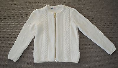 H&m Girls Zip Front Knitted Cardigan Sweater Size 3-4  *bnwot*