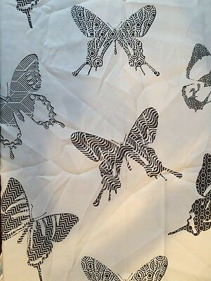 Butterfly Shower Curtain 180cm X 190cm Nwot