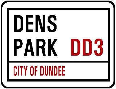 DUNDEE F.C. STREET SIGN ON MOUSE MAT / PAD. 22 X 18cm. DENS PARK