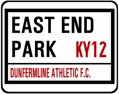 Dunfirmline Athletic F.c. Street Sign On Mouse Mat/ Pad. East End Park