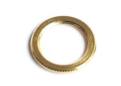 Knurled Dress Nut for 3-Way Switchcraft Guitar Toggle Switches • Gold