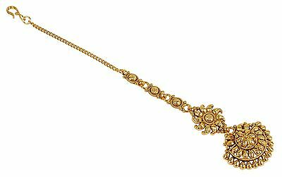 2229 Indian Traditional Wedding Goldtone Maang Tikka Women Party Forehad Jewelry