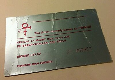 PRINCE concert ticket 1995 tour netherlands VERY RARE HARD TO FIND