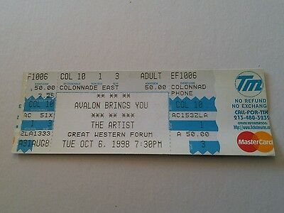 PRINCE concert ticket 1998 tour VERY RARE HARD TO FIND