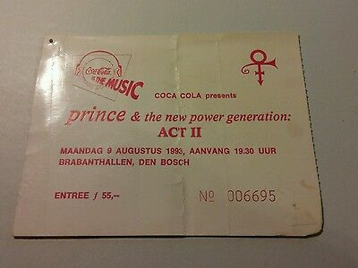PRINCE concert ticket 1993 tour netherlands VERY RARE HARD TO FIND