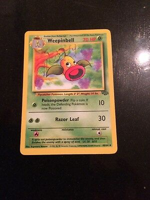 Jungle Set Rare Weepinbell Pokemon Card 48/64 Excellent Condition