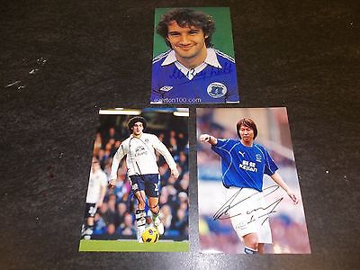 3 Everton Footballers,  3 Signed 6 X 4 Photos