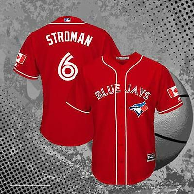 Toronto Blue Jays Marcus Stroman 6# Canada Day Baseball Jersey Men's Red